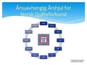 rsuavhengig rshjul for Norsk Quilteforbund Januar Desember Februar