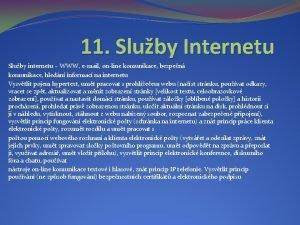 11 Sluby Internetu Sluby internetu WWW email online