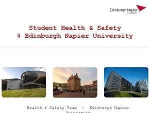 Student Health Safety Edinburgh Napier University Health Safety