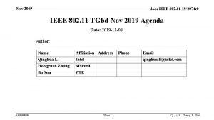 Nov 2019 doc IEEE 802 11 192074 r