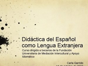 Didctica del Espaol como Lengua Extranjera Curso dirigido