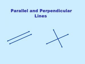 Parallel and Perpendicular Lines SlopeIntercept Form From Intermediate
