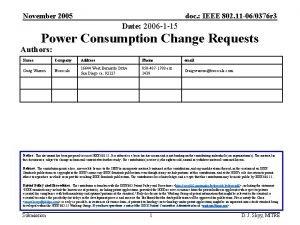 November 2005 doc IEEE 802 11 060376 r