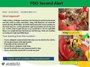 PDO Second Alert Date 22 07 2016 Incident