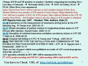 Change of ICB and TB member or members