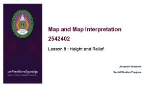 Map and Map Interpretation 2542402 Lesson 8 Height