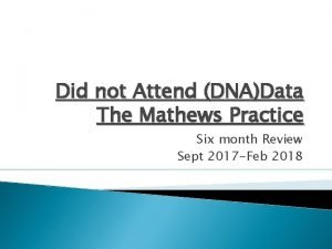 Did not Attend DNAData The Mathews Practice Six