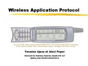 Wireless Application Protocol Ericsson R 380 petit mobile