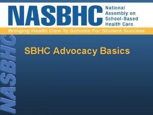 SBHC Advocacy Basics What is advocacy advocacy Pronunciation