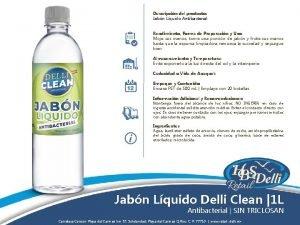 Descripcin del producto Jabn Lquido Antibacterial Rendimiento Forma