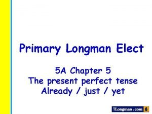 Primary Longman Elect 5 A Chapter 5 The