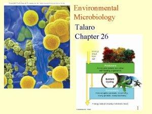 Environmental Microbiology Talaro Chapter 26 1 Environmental Microbiology