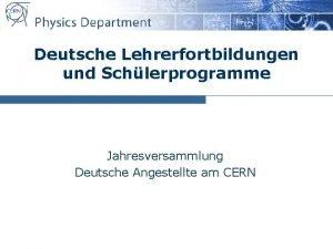 Deutsche Lehrerfortbildungen und Schlerprogramme Jahresversammlung Deutsche Angestellte am