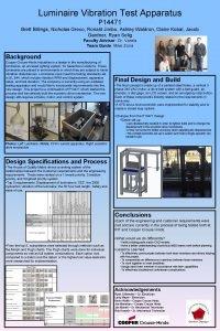 Luminaire Vibration Test Apparatus P 14471 Brett Billings