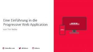 Eine Einfhrung in die Progressive Web Application von