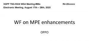 3 GPP TSGRAN WG 4 Meeting 96 e