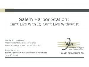 Salem Harbor Station Cant Live With It Cant