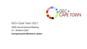 GEC Cape Town 2017 GERN Annual General Meeting