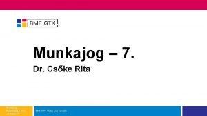 Munkajog 7 Dr Cske Rita Munkajog Pszicholgus MSc