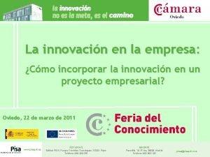 La innovacin en la empresa Cmo incorporar la