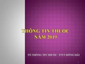 THNG TIN THUC NM 2019 T THNG TIN