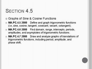 SECTION 4 5 Graphs of Sine Cosine Functions