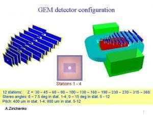 GEM detector configuration Stations 1 4 12 stations