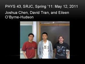 PHYS 43 SRJC Spring 11 May 12 2011