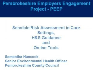 Pembrokeshire Employers Engagement 5 year plan Project PEEP