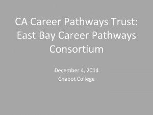CA Career Pathways Trust East Bay Career Pathways