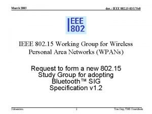March 2003 doc IEEE 802 15 03175 r