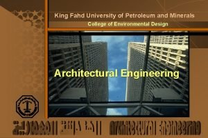 King Fahd University of Petroleum and Minerals College