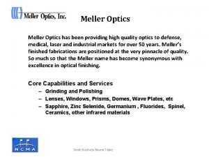 Meller Optics has been providing high quality optics
