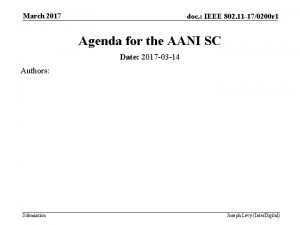 March 2017 doc IEEE 802 11 170200 r