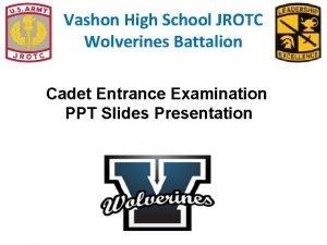 Vashon High School JROTC Wolverines Battalion Cadet Entrance