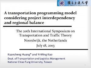 A transportation programming model considering project interdependency and