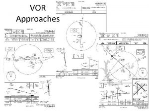 VOR Approaches 1 VOR Approach Nomenclature VOR RWY