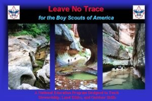 Leave No Trace for the Boy Scouts of