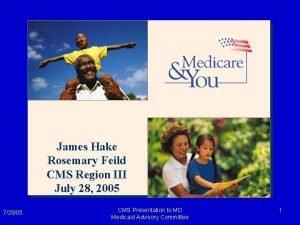 James Hake Rosemary Feild CMS Region III July