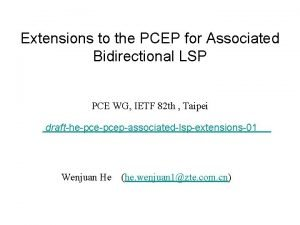 Extensions to the PCEP for Associated Bidirectional LSP