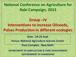 National Conference on Agriculture for Rabi Campaign 2013