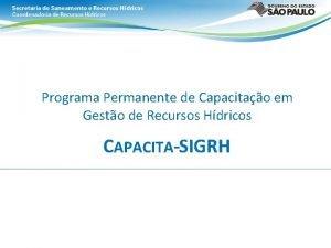 Programa Permanente de Capacitao em Gesto de Recursos