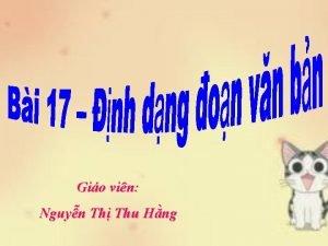 Gio vin Nguyn Th Thu Hng Bi 17
