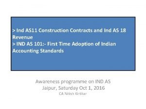 Ind AS 11 Construction Contracts and Ind AS