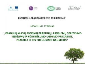 PROJEKTAS PRADINIO UGDYMO TOBULINIMAS MOKSLINIS TYRIMAS PRADINI KLASI