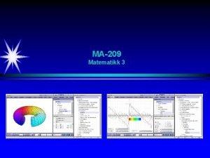 MA209 Matematikk 3 Timeplan h 2015 Emner Kjeglesnitt