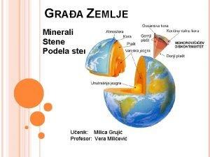 GRAA ZEMLJE Minerali Stene Podela stena Uenik Milica