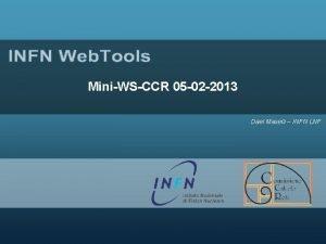 MiniWSCCR 05 02 2013 Dael Maselli INFN LNF