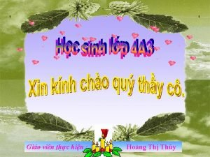 Gio vin thc hin Hong Th Thy Th