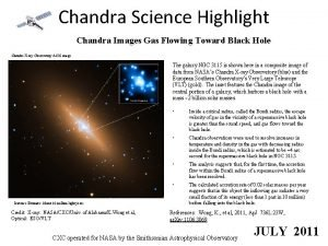 Chandra Science Highlight Chandra Images Gas Flowing Toward